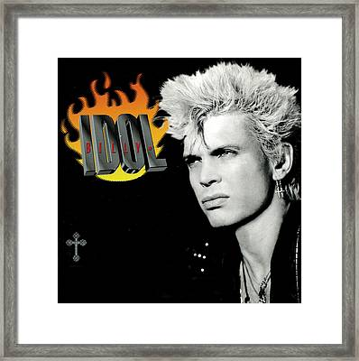 Billy Idol - Greatest Hits 2001 Framed Print by Epic Rights