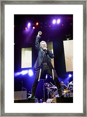 Billy Idol Live In Concert 2 Framed Print by Jennifer Rondinelli Reilly - Fine Art Photography