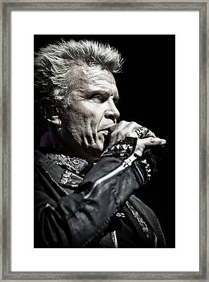 Billy Idol Live In Concert 3  Framed Print by Jennifer Rondinelli Reilly - Fine Art Photography