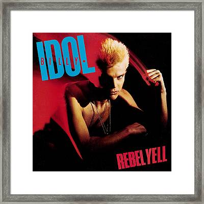 Billy Idol - Rebel Yell 1983 Framed Print by Epic Rights