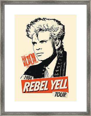 Billy Idol - Rebel Yell Tour 1984 Framed Print by Epic Rights