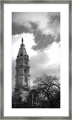 Billy Penn Vertical Bw Framed Print by Photographic Arts And Design Studio