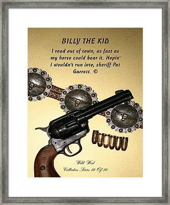 Billy The Kid 19 Of 20 Framed Print