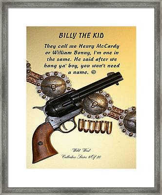 Billy The Kid 4 Of 20 Framed Print
