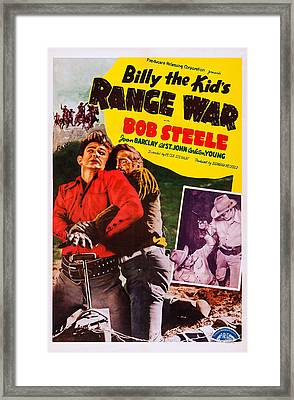 Billy The Kids Range War, Aka Texas Framed Print