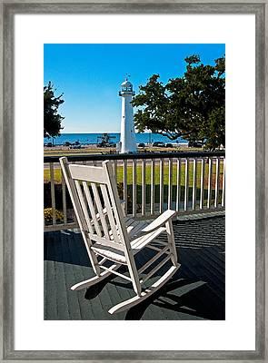 Biloxi Gulf View Framed Print by Dennis Cox WorldViews