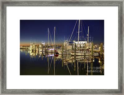 Biloxi Harbor Framed Print