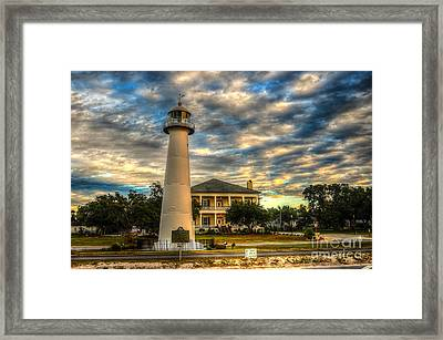 Biloxi Lighthouse And Welcome Center Framed Print