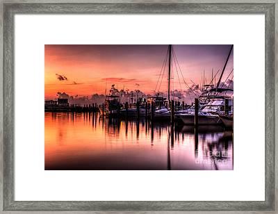 Biloxi Mississippi Harbor Framed Print