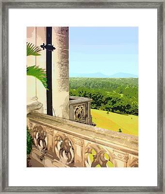 Biltmore Balcony Asheville Nc Framed Print