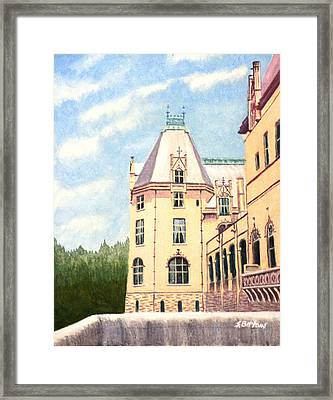 Framed Print featuring the painting Biltmore Balcony by Stacy C Bottoms