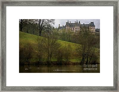 Biltmore Estate At Dusk Framed Print by Doug Sturgess