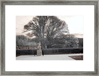 Biltmore Estate House Italian Garden Terrace Statues  Framed Print by Kathy Fornal