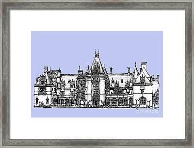 Biltmore Estate In Light Blue Framed Print by Adendorff Design
