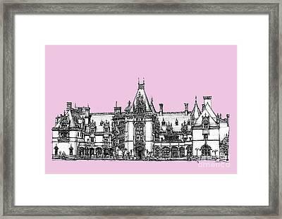 Biltmore Estate In Pink Framed Print