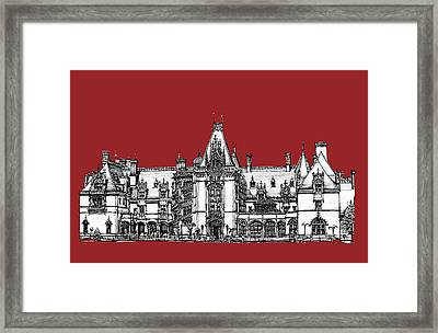 Biltmore Estate Red Framed Print by Building  Art