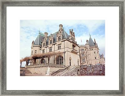 Biltmore Estates Mansion - American Castles - Asheville North Carolina Biltmore Mansion Framed Print by Kathy Fornal