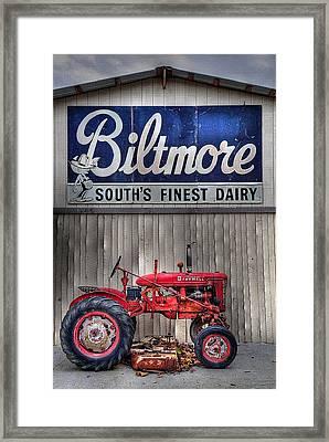 Framed Print featuring the photograph Biltmore Farmall by Craig T Burgwardt