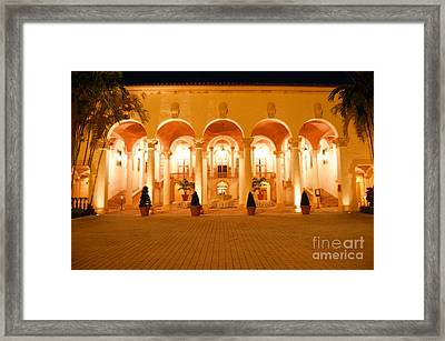 Biltmore Hotel Arched Colonnade And Grand Ballroom Courtyard Coral Gables Miami Diffuse Glow Digital Framed Print by Shawn O'Brien