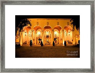 Biltmore Hotel Arched Colonnade And Grand Ballroom Courtyard Coral Gables Miami Fresco Digital Art Framed Print by Shawn O'Brien