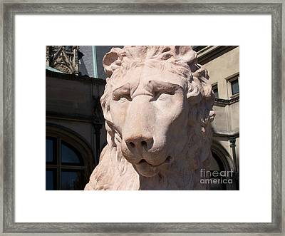 Biltmore Lion Framed Print by Gayle Melges