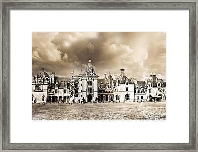 Biltmore Mansion Estate Architecture - Biltmore Estate Mansion Asheville North Carolina Framed Print