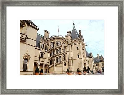 Biltmore Mansion Estate Ashville North Carolina - Biltmore Mansion Archictecture  Framed Print by Kathy Fornal