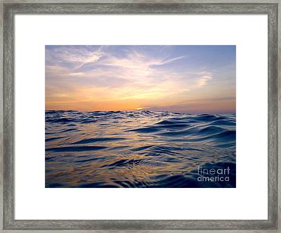 Bimini Sunset Framed Print