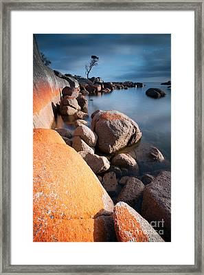 Binalong Bay At Sunrise Framed Print
