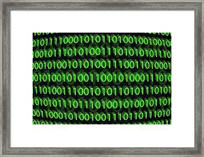 Binary Code Framed Print