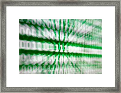 Binary Numbers Framed Print
