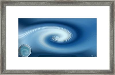 Framed Print featuring the digital art Binary by rd Erickson