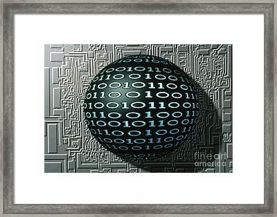 Binary Sphere Framed Print by Gregory MacNicol