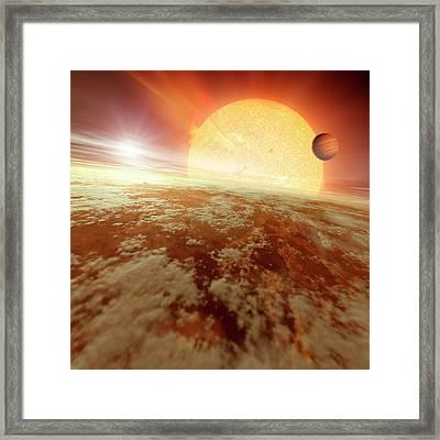 Binary Star System Framed Print by Detlev Van Ravenswaay