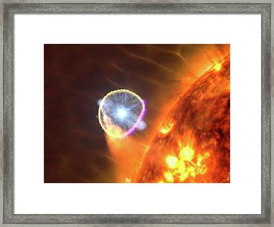 Binary Star System Nova Framed Print by Nasa's Goddard Space Flight Center/s. Wiessinger