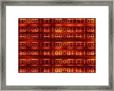 Binary Framed Print
