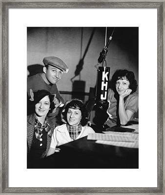Bing Crosby & Boswell Sisters Framed Print