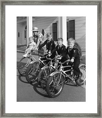 Bing Crosby And His Boys Framed Print