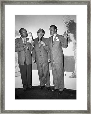 Bing Crosby Jerry Colonna And Bob Hope Framed Print