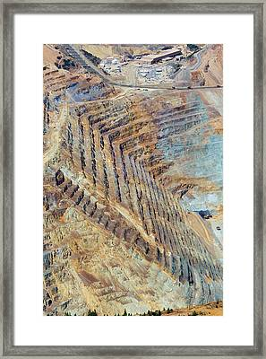 Bingham Canyon Copper Mine Framed Print by Jim West