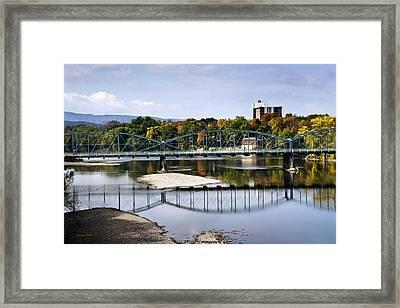 Binghamton Ny South Washington St. Bridge Framed Print by Christina Rollo