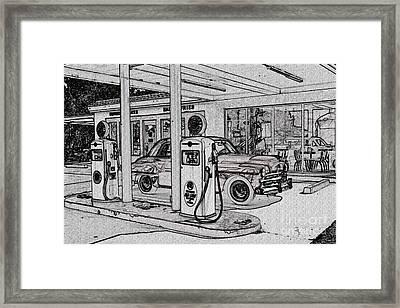 Bings Burger Station Cottonwood Arizona Framed Print by Janice Rae Pariza