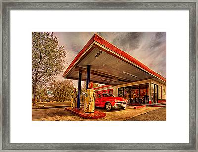 Bings Burger Station In Historic Old Town Cottonwood Arizona Framed Print