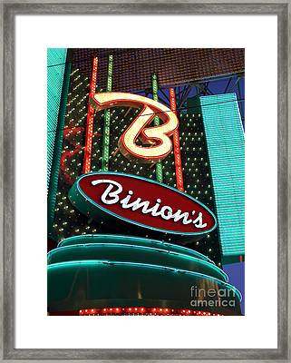 Binions Framed Print