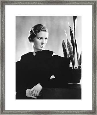 Binnie Barnes, Ca. Mid-1930s Framed Print