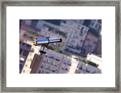 Binoculars View Of City Framed Print by Ioan Panaite