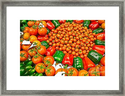 Bio Vegetables Framed Print by Dragomir Nikolov