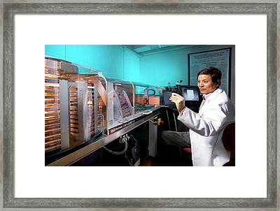 Biofuel Genetics Research Framed Print