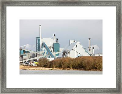 Biofuel Power Station Framed Print by Ashley Cooper