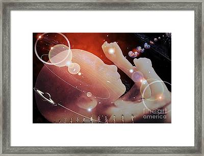 Biogenesis, Conceptual Artwork Framed Print by Hans-ulrich Osterwalder